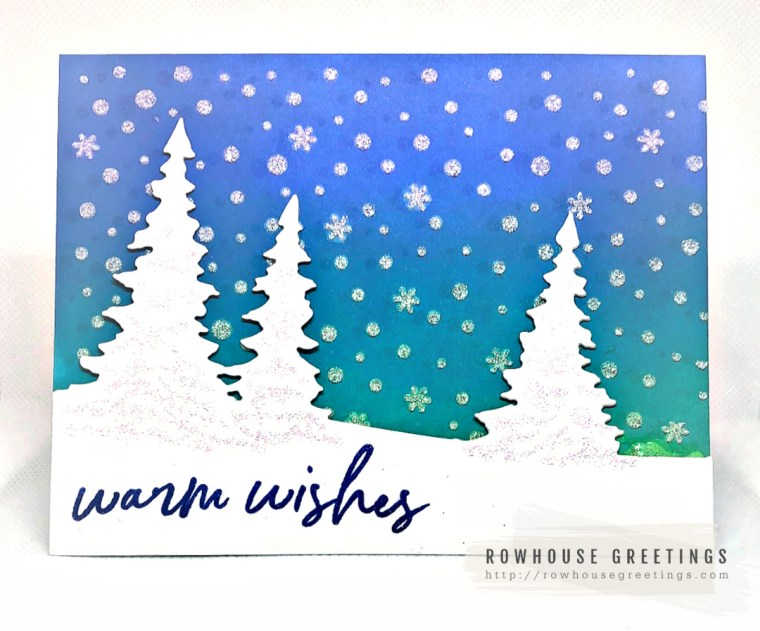 Rowhouse Greetings | Pine Tree Hill by Memory Box