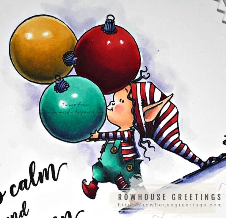 Rowhouse Greetings   Little Elf Kippa by Mo's Digital Pencil