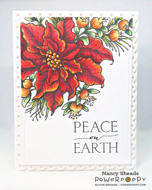 Rowhouse Greetings | Poinsettia and Pomegranates by Power Poppy