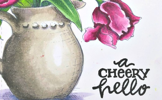 Rowhouse Greetings | Tulips in Hobnail Pitcher by Power Poppy