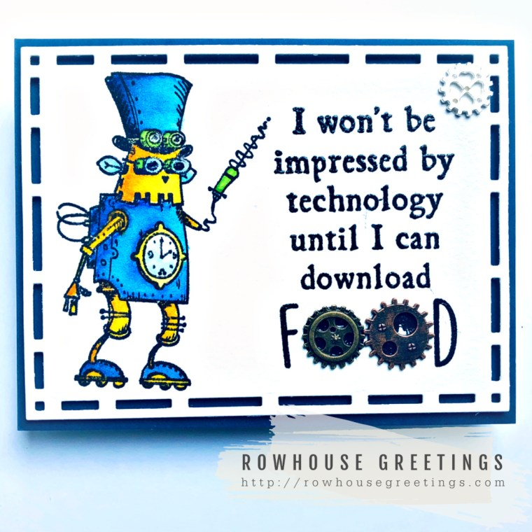 Rowhouse Greetings | Robots 1 by Katzelkraft