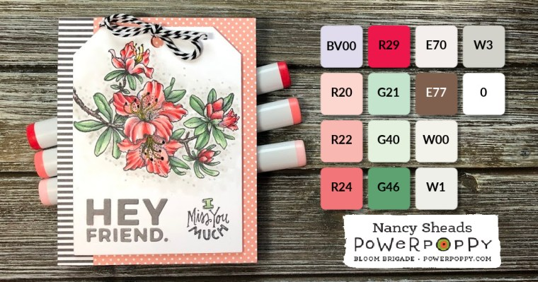 Rowhouse Greetings | Azaleas Stamp Set by Power Poppy