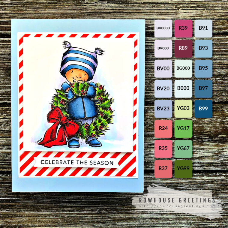 Rowhouse Greetings | Got the Wreath by Mo's Digital Pencil