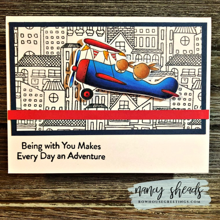 Rowhouse Greetings | High Flying Adventure by My Favorite Things (MFT Stamps)