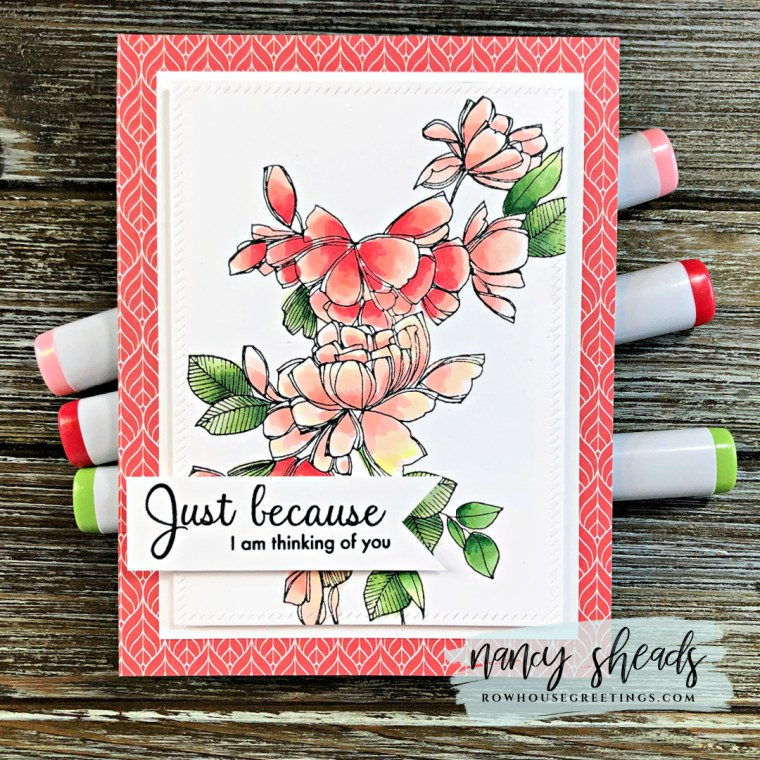 Rowhouse Greetings | Just Because by Pinkfresh Studio