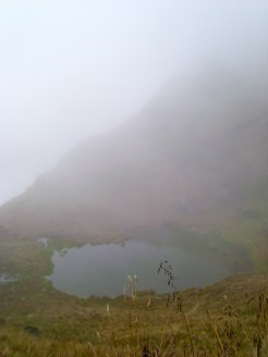 First lake that emerged from behind the clouds