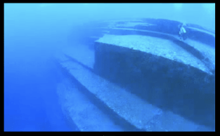 Submerged ruins of Yonaguni, said to be part of ancient continent of Lemuria