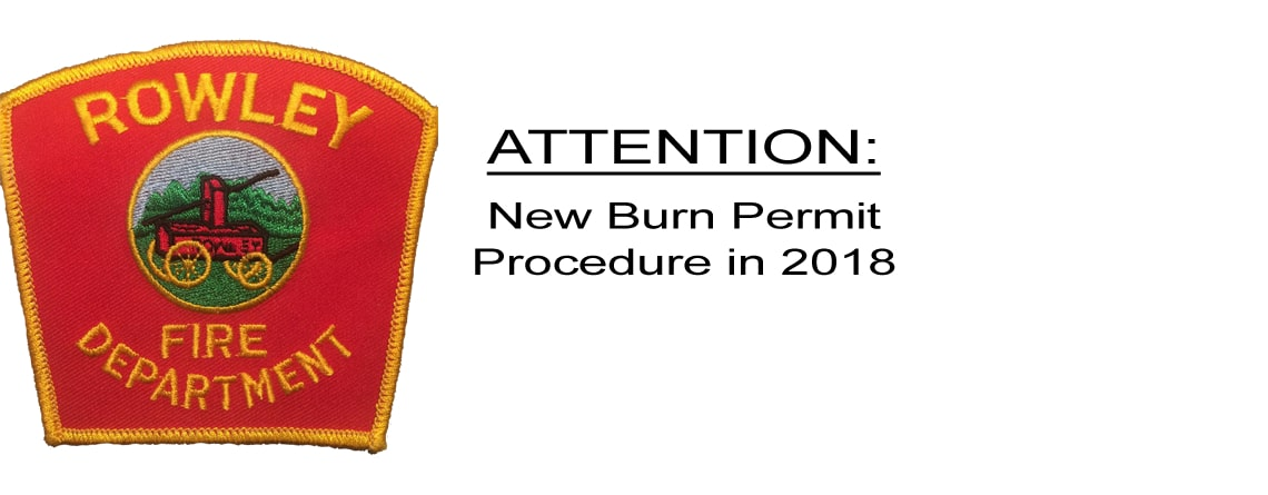 New Burn Permit Procedure