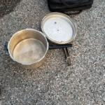 A pressure cooker was found on a bench outside the Rowley MBTA Commuter Rail station at approximately 6 a.m., triggering an evacuation of the station and delays on the Newburyport Line. (Rowley Police Department Photo)