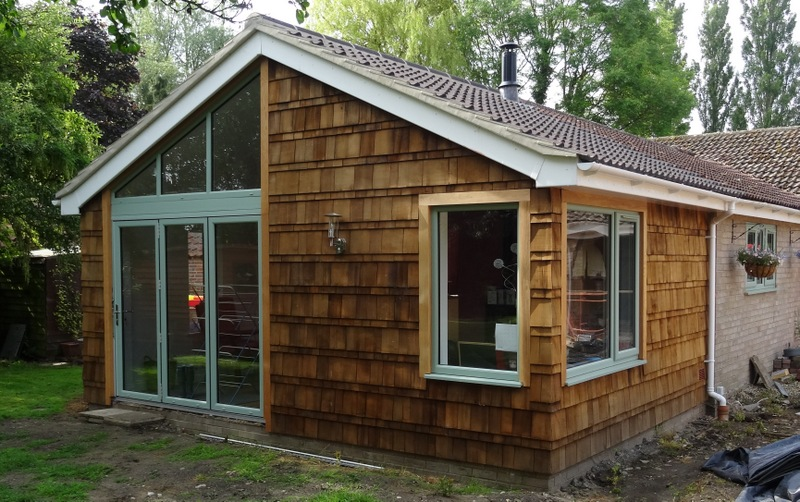 Extension with Cedar Shingles