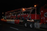 RMS Christmas Float at night