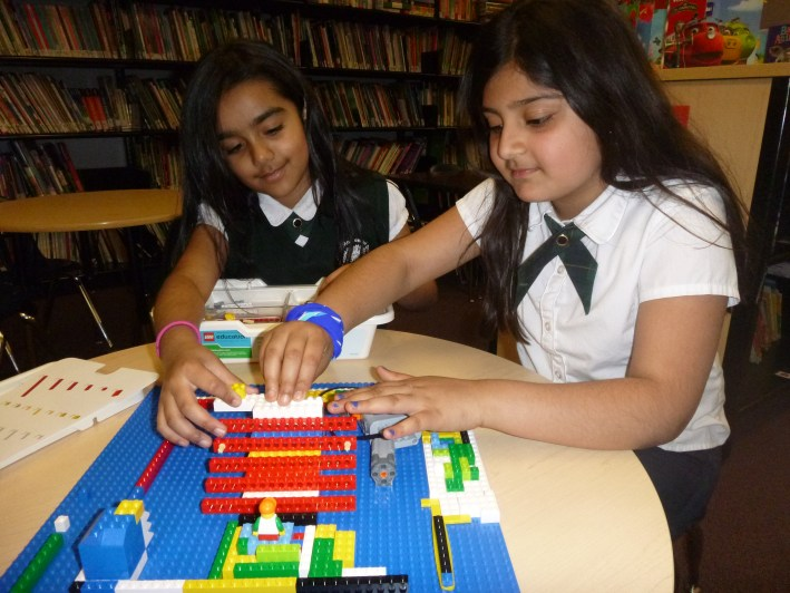 Brampton Private School students working on robotics