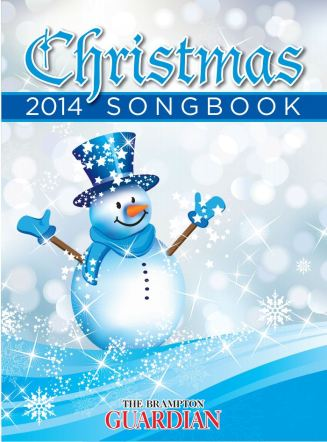 2014 Christmas Song Book cover featuring a snowman