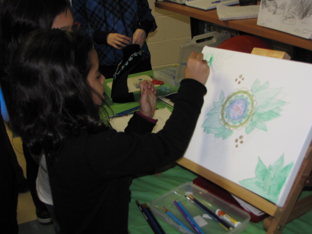 RMS Students Engaged in Art