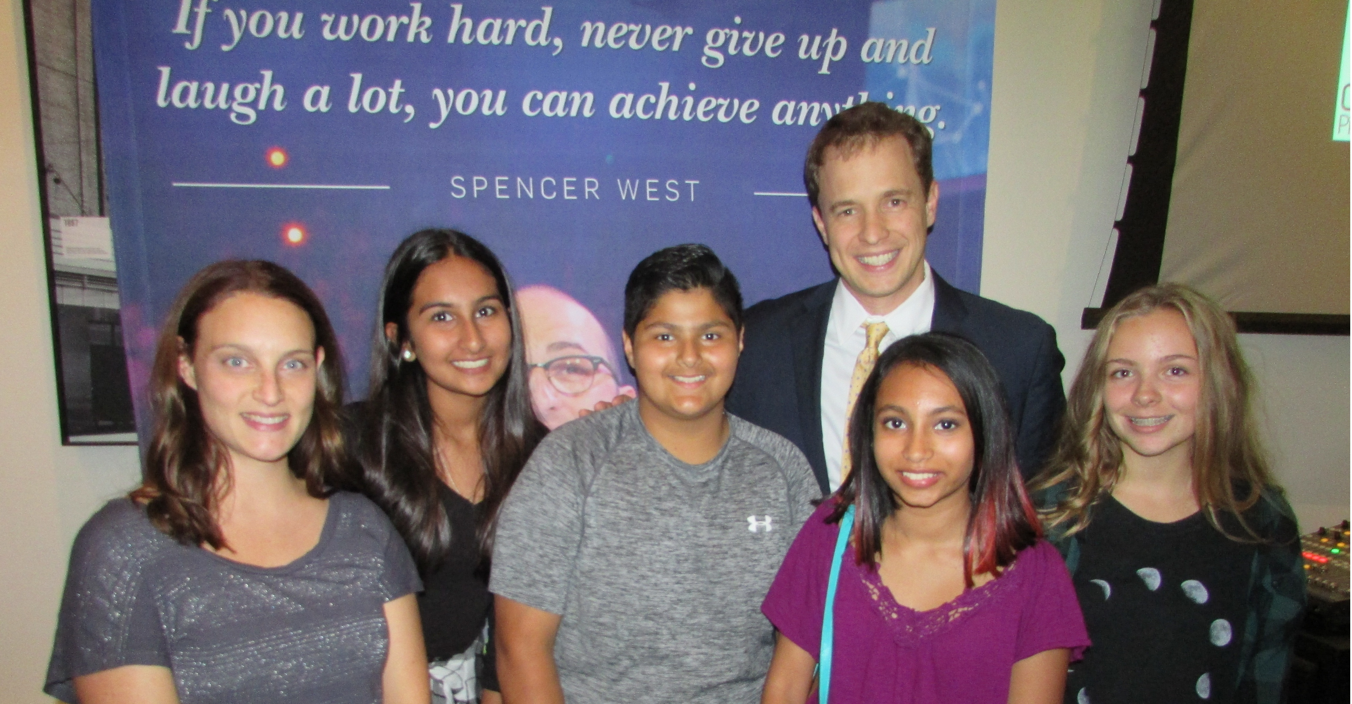 RMS students and teacher with Marc Kielburger