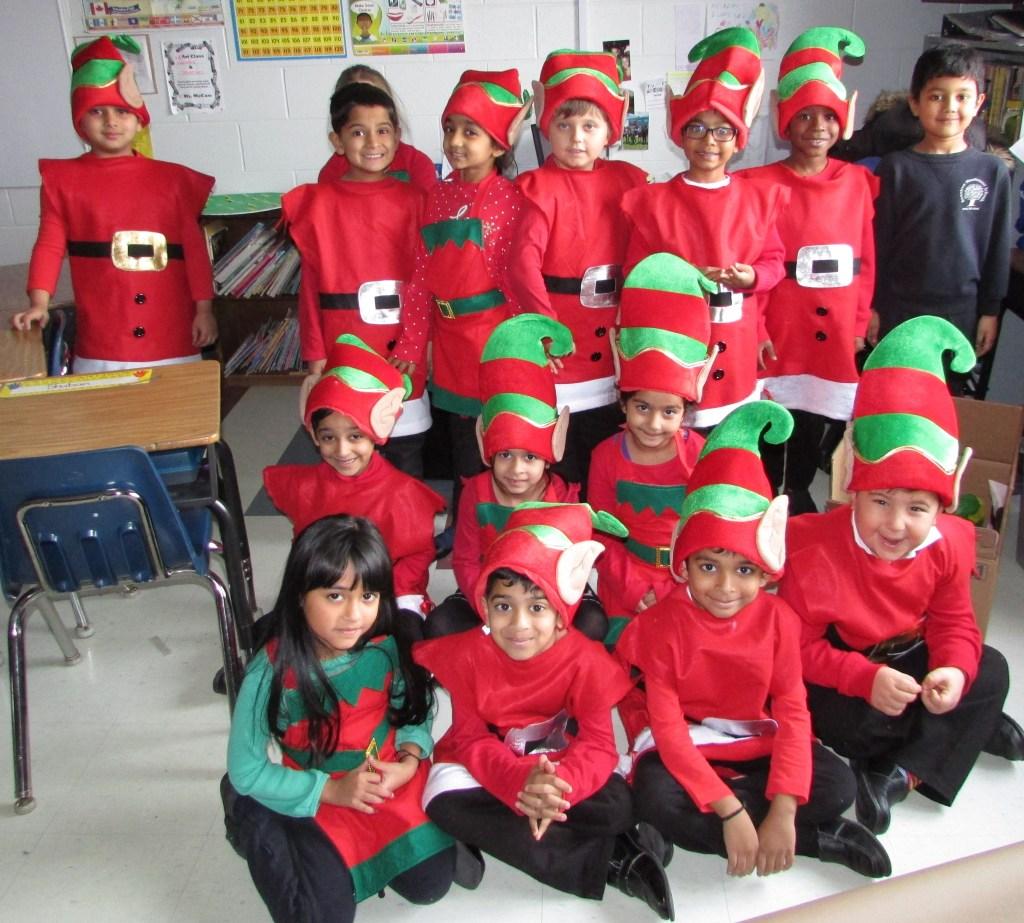 Grade 1A Christmas Elves