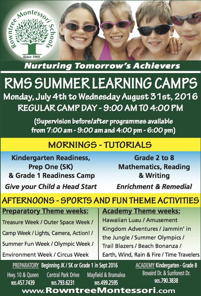 RMS Summer Learning Camps 2016 cover
