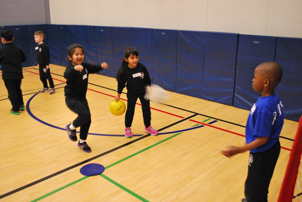 Demonstrating their physical skill in various ball activities