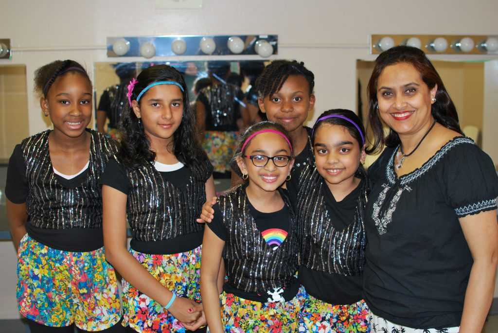 Getting ready back stage for their big performance