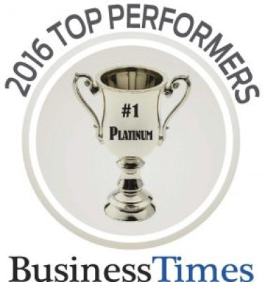 Business Times Reader's Choice 2016 Platinum Award