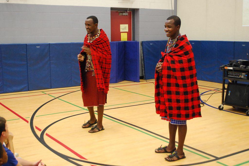 The Maasai warriors and WE ambassadors