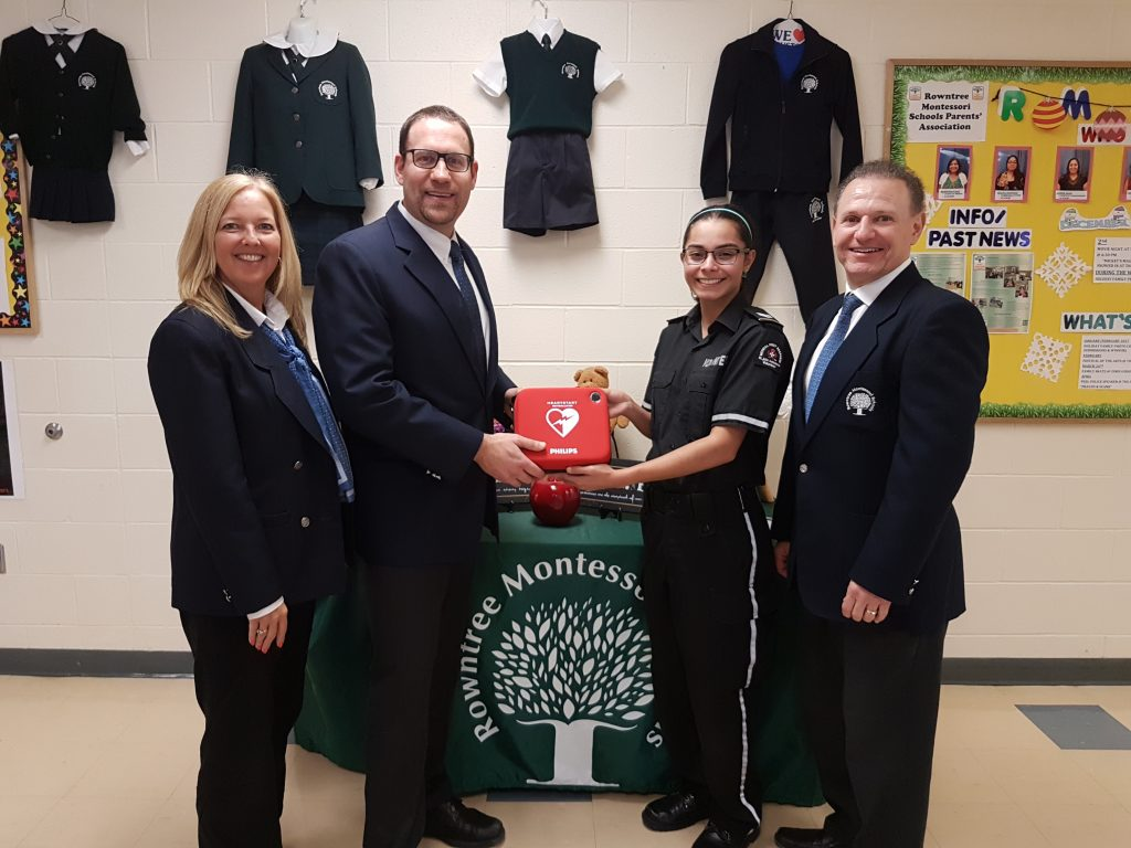 AED Donation to RMS