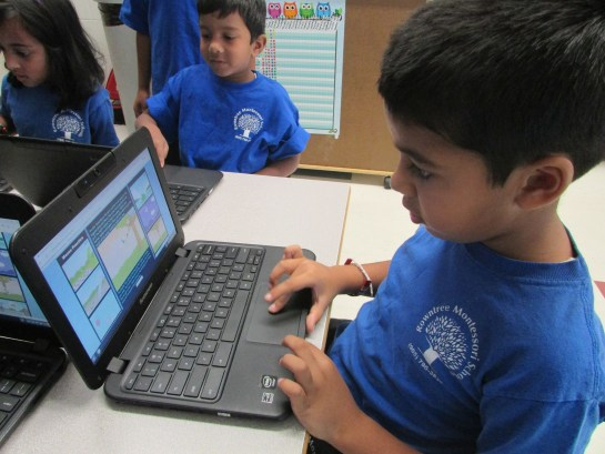 Private School Student on Computer