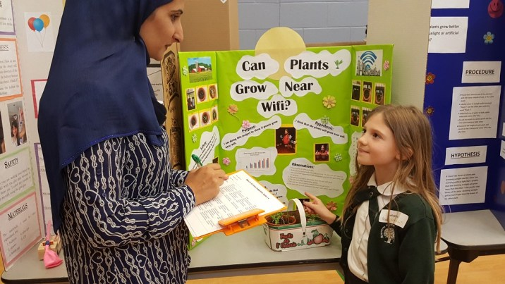 Image of Student at Private School STEM Fair