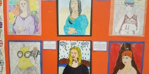 Grade 6 Students Create Mona Lisa Artwork