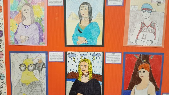 Artwork from Grade 6 private school class at Rowntree Montessori Schools Brampton