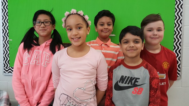 Private School students at RMS in Brampton wearing Pink in support of Anti-Bullying