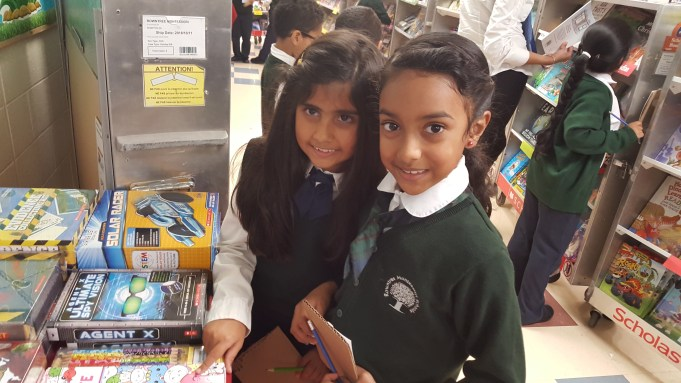 Students at RMS book fair at private school in Brampton