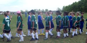 Students at sports match during Extra Curricular Activities - Showing Good Sportsmanship at RMS Private School in Brampton