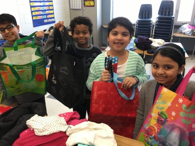 Students purchasinng items at Math Day 2019 at Rowntree Montessori Schools