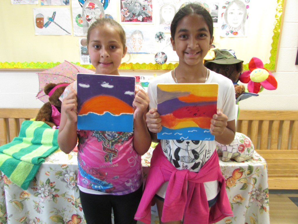 Students at RMS Brampton Summer Camp working on an engaging art activity.