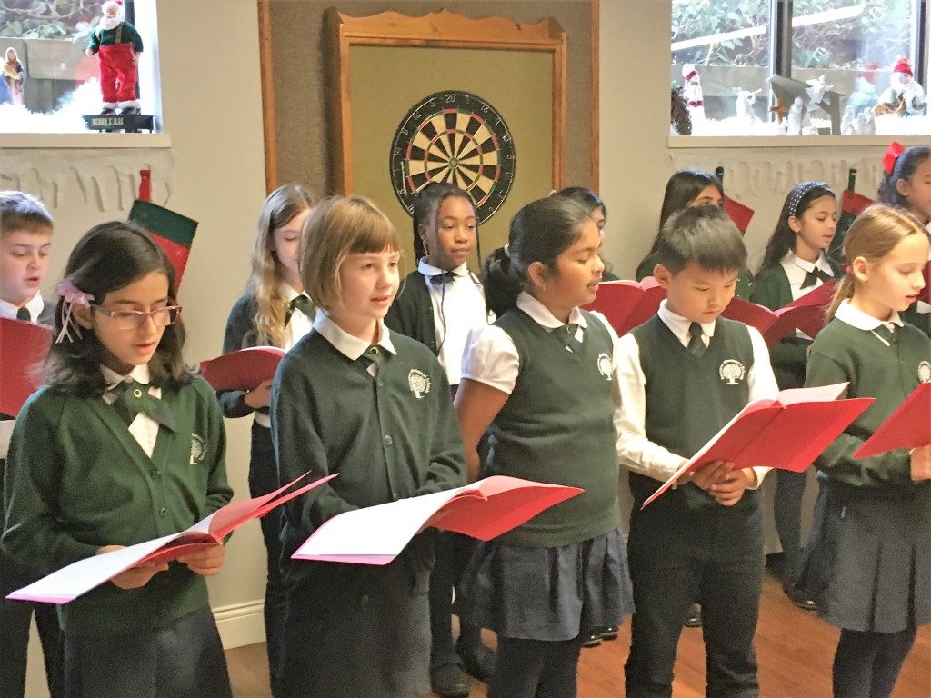 Photo of RMS Choir visiting a Seniors Residence at Christmas