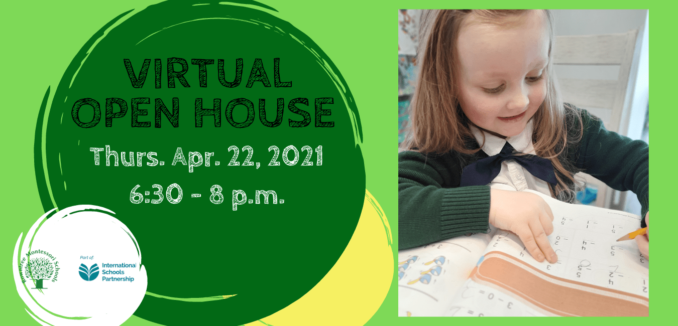 Virtual Open House taking place on Thursday, April 22nd, 2021
