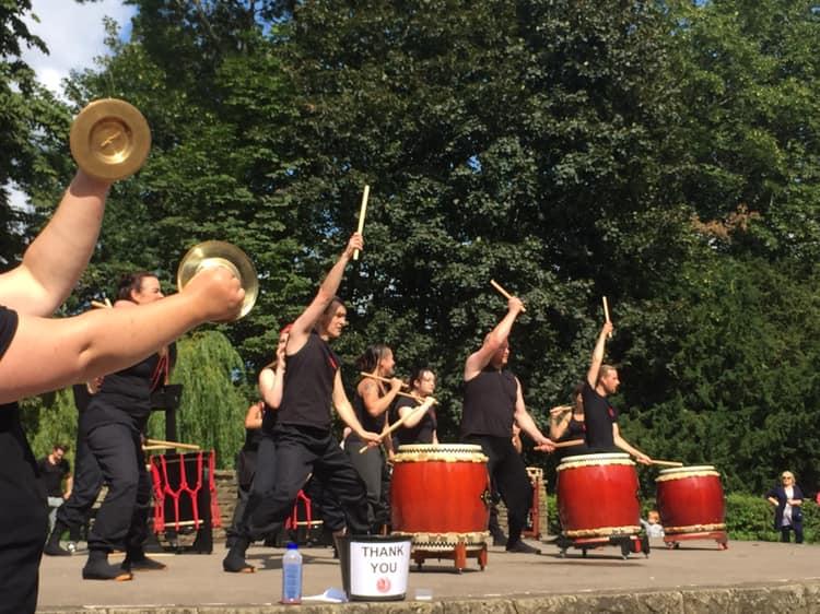 Rowntree Park drumming