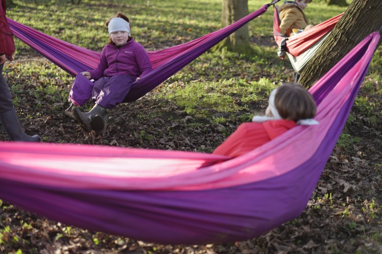 Rowntree Park forest school big kids hammock