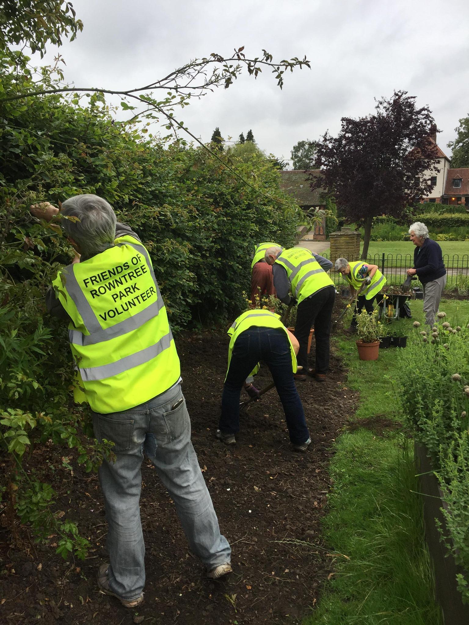 Rowntree Park gardening Volunteers