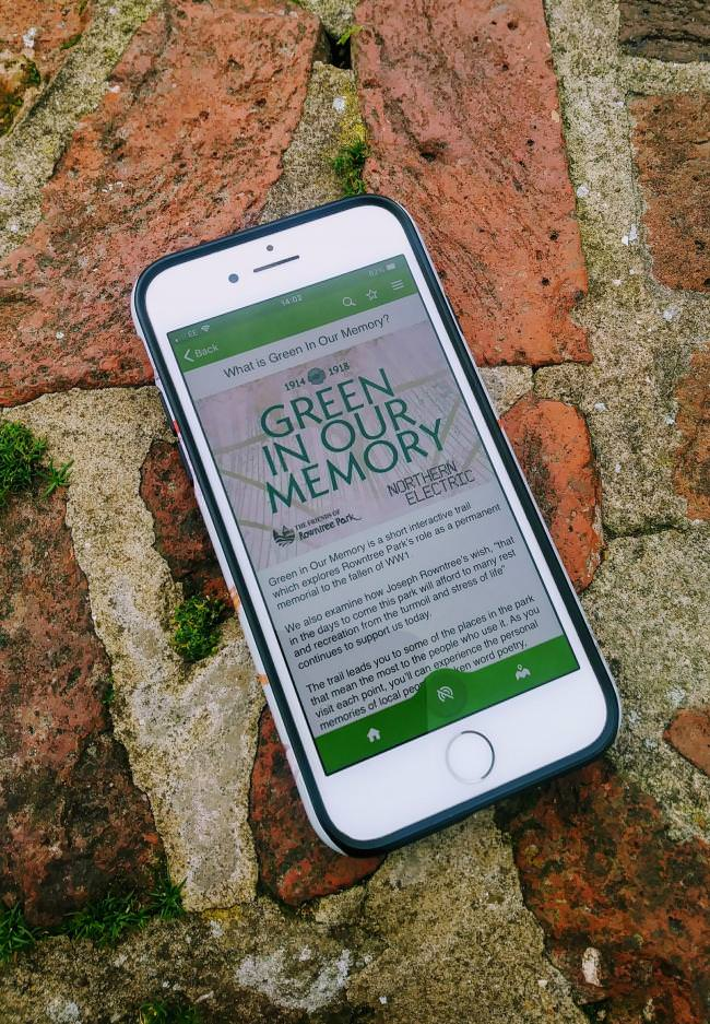 Rowntree Park History App Green in Our Memories
