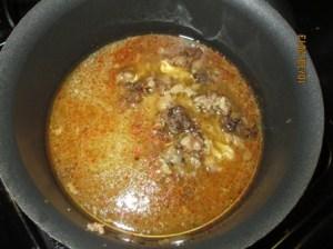 marrow to spiced broth