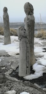 Statues en bord du Saint-Laurent, Mont-Joli (Québec)