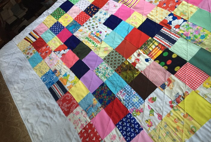 Grandma's gift from the grave: a patchwork quilt