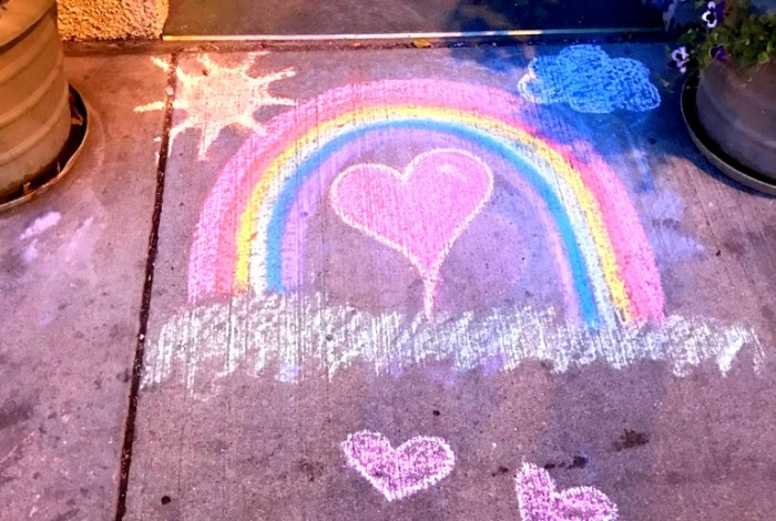 Stories from the sidewalk: Hearts, sunshine and rainbows at 'the door of hell'