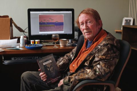 "Fargo poet Tim Murphy has a new book featuring his latest work titled ""Devotions."" David Samson / The Forum"
