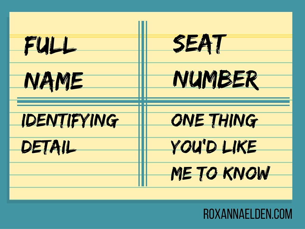 Name Memorization Example Card