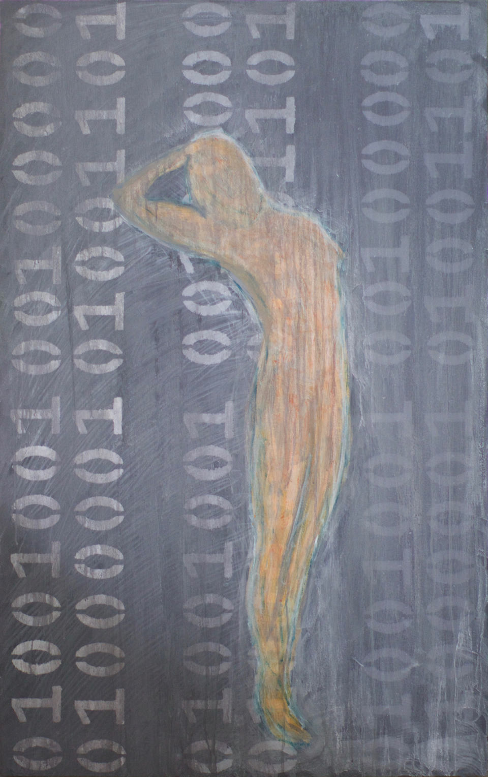 painting: I AM: Emerging from 1s and 0s by Roxanne Darling