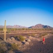 Self-portrait, Roxanne Darling, Drone Photography in Quartzite, AZ