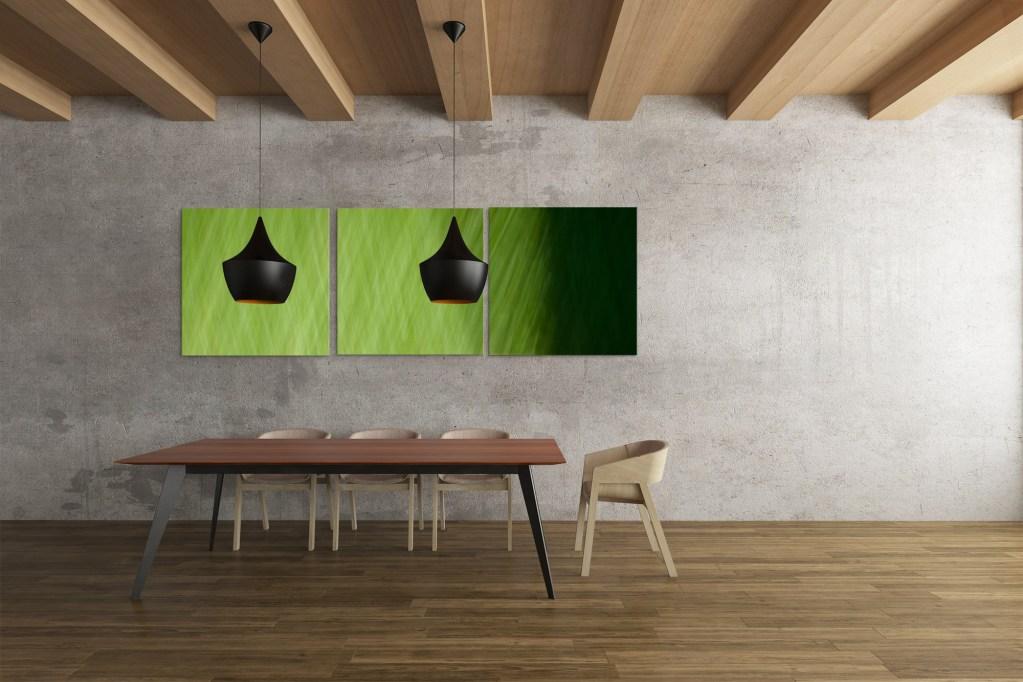 Deep Grass, triptych, by Roxanne Darling